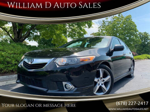 2012 Acura TSX for sale at William D Auto Sales in Norcross GA