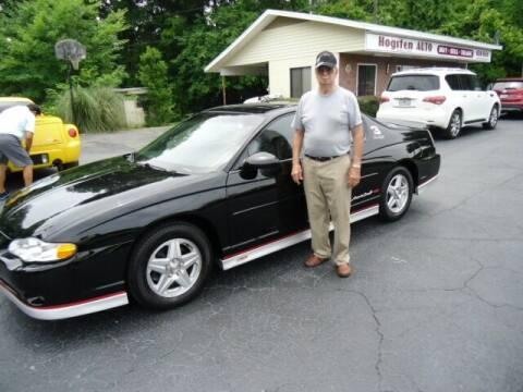 2002 Chevrolet Monte Carlo for sale at HOGSTEN AUTO WHOLESALE in Ocala FL