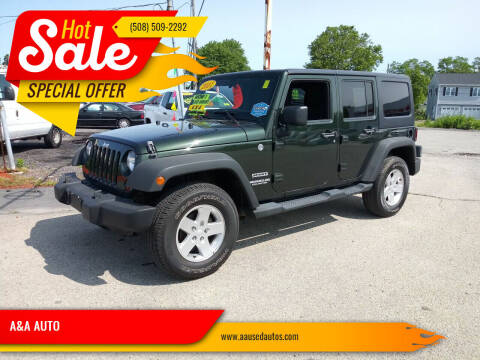 2011 Jeep Wrangler Unlimited for sale at A&A AUTO in Fairhaven MA