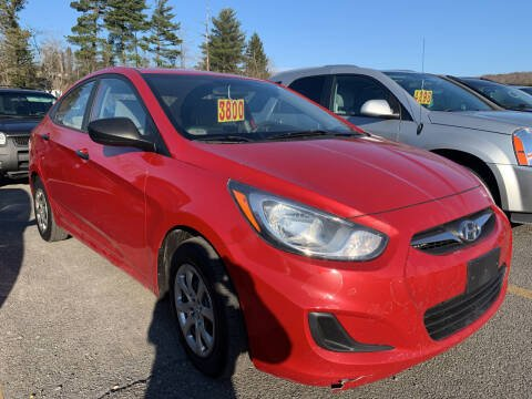 2012 Hyundai Accent for sale at BURNWORTH AUTO INC in Windber PA