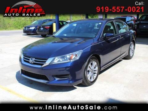 2014 Honda Accord for sale at Inline Auto Sales in Fuquay Varina NC