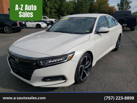 2018 Honda Accord for sale at A-Z Auto Sales in Newport News VA