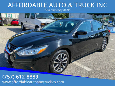 2016 Nissan Altima for sale at AFFORDABLE AUTO & TRUCK INC in Virginia Beach VA