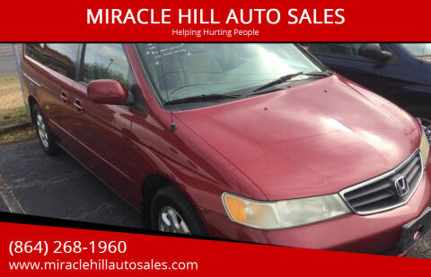 2004 Honda Odyssey for sale at MIRACLE HILL AUTO SALES in Greenville SC