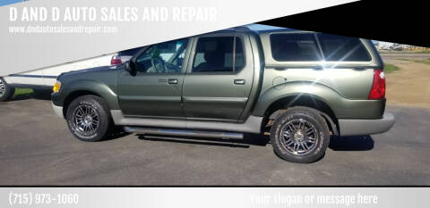 2003 Ford Explorer Sport Trac for sale at D AND D AUTO SALES AND REPAIR in Marion WI