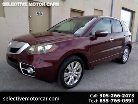 2010 Acura RDX for sale at Selective Motor Cars in Miami FL
