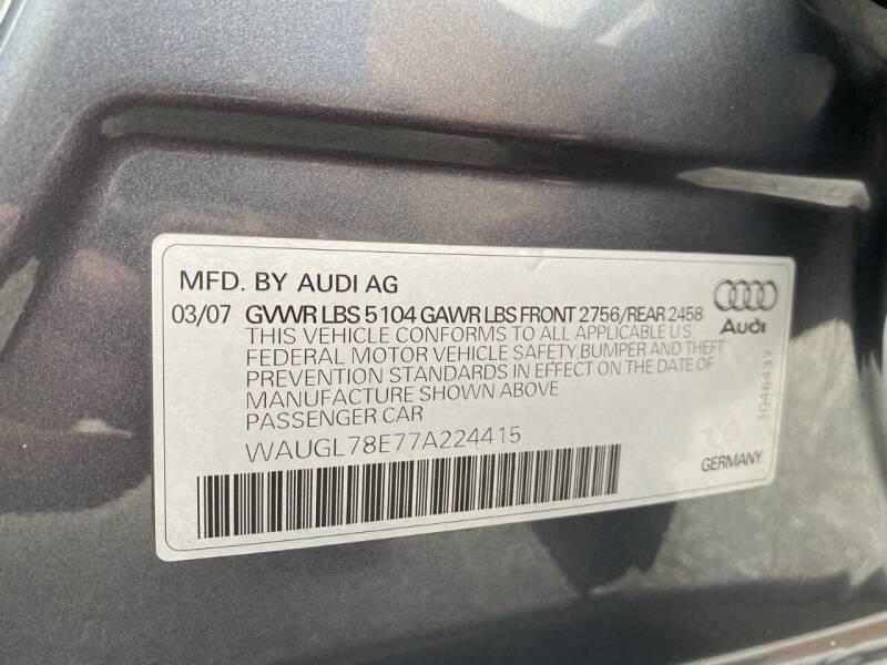 2007 Audi S4 AWD quattro 4dr Sedan (4.2L V8 6A) - West Chester PA