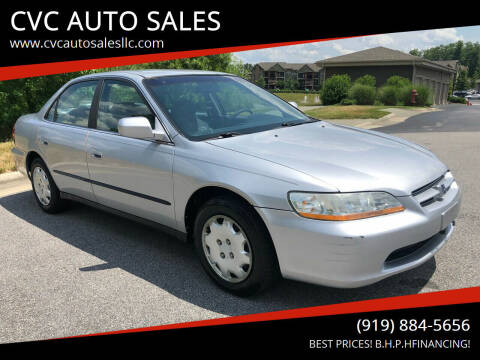 2000 Honda Accord for sale at CVC AUTO SALES in Durham NC