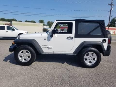 2013 Jeep Wrangler for sale at 4M Auto Sales | 828-327-6688 | 4Mautos.com in Hickory NC