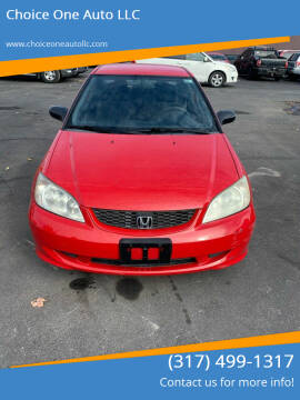 2005 Honda Civic for sale at Choice One Auto LLC in Beech Grove IN