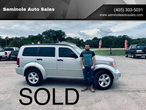 2010 Dodge Nitro for sale at Seminole Auto Sales in Seminole OK
