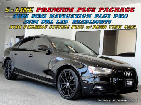 2014 Audi A4 for sale at SAN DIEGO BEEMERS in San Diego CA