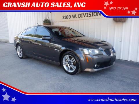 2008 Pontiac G8 for sale at CRANSH AUTO SALES, INC in Arlington TX