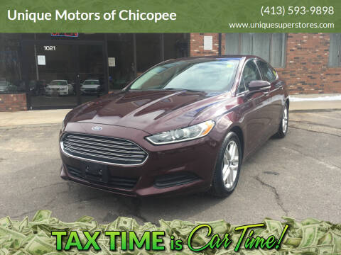 2013 Ford Fusion for sale at Unique Motors of Chicopee in Chicopee MA