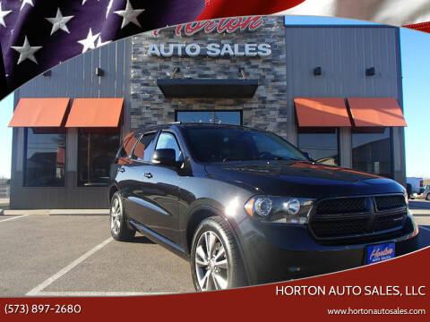 2013 Dodge Durango for sale at HORTON AUTO SALES, LLC in Linn MO