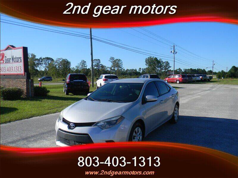 2015 Toyota Corolla for sale at 2nd Gear Motors in Lugoff SC