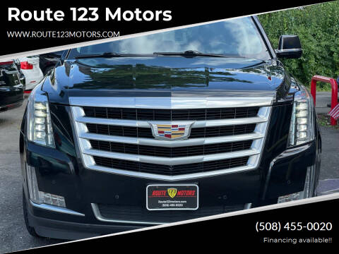 2017 Cadillac Escalade for sale at Route 123 Motors in Norton MA