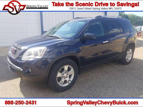 2011 GMC Acadia for sale at Spring Valley Chevrolet Buick in Spring Valley MN