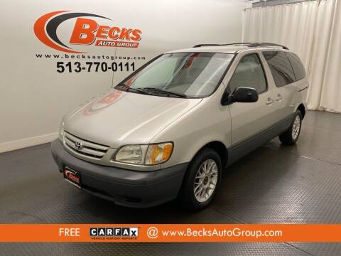 2002 Toyota Sienna for sale at Becks Auto Group in Mason OH