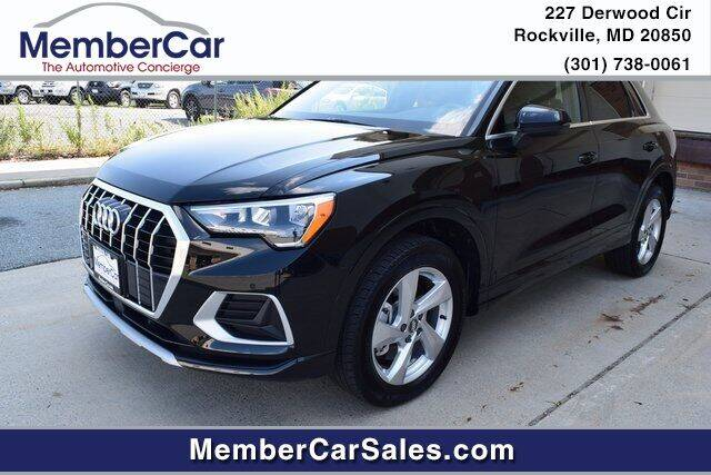 2020 Audi Q3 for sale at MemberCar in Rockville MD