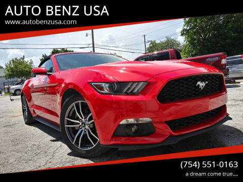 2017 Ford Mustang for sale at AUTO BENZ USA in Fort Lauderdale FL
