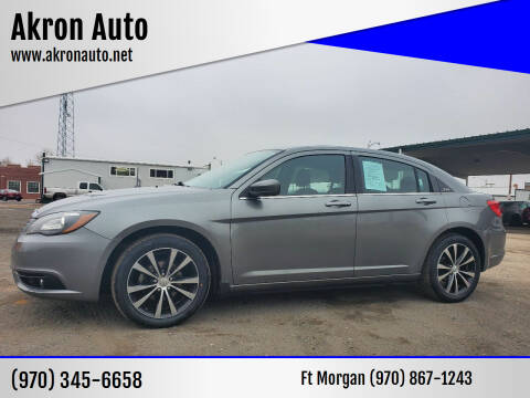 2013 Chrysler 200 for sale at Akron Auto in Akron CO