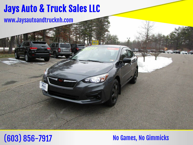 2019 Subaru Impreza for sale at Jays Auto & Truck Sales LLC in Loudon NH