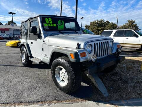 2003 Jeep Wrangler for sale at Choice Motors of Salt Lake City in West Valley  City UT
