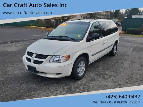 2001 Dodge Grand Caravan for sale at Car Craft Auto Sales Inc in Lynnwood WA