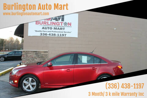 2013 Chevrolet Cruze for sale at Burlington Auto Mart in Burlington NC