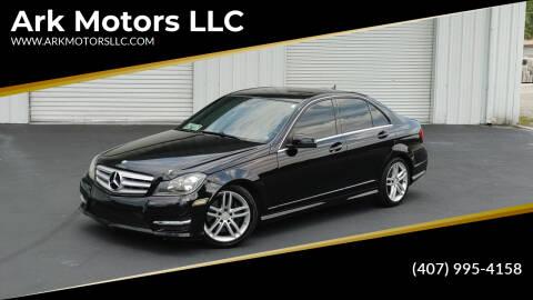 2013 Mercedes-Benz C-Class for sale at Ark Motors LLC in Winter Springs FL