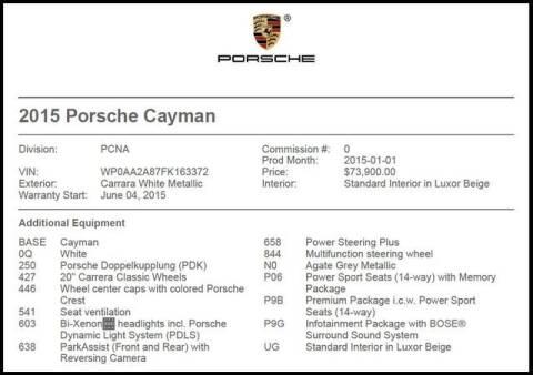 2015 Porsche Cayman for sale at RAC Performance in Carrollton TX