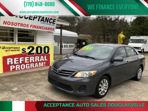 2013 Toyota Corolla for sale at Acceptance Auto Sales Douglasville in Douglasville GA
