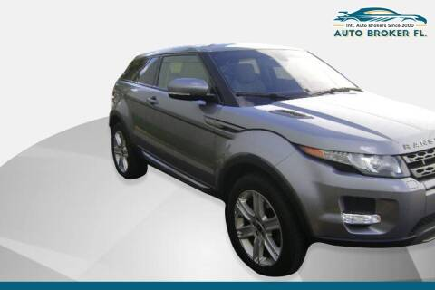 2013 Land Rover Range Rover Evoque Coupe for sale at INTERNATIONAL AUTO BROKERS INC in Hollywood FL