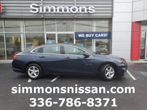 2018 Chevrolet Malibu for sale at SIMMONS NISSAN INC in Mount Airy NC