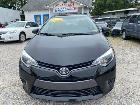 2016 Toyota Corolla for sale at Advantage Motors in Newport News VA