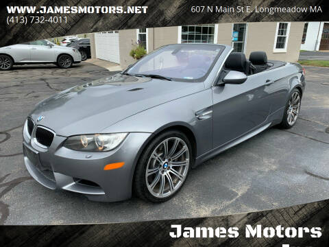 2011 BMW M3 for sale at James Motors Inc. in East Longmeadow MA
