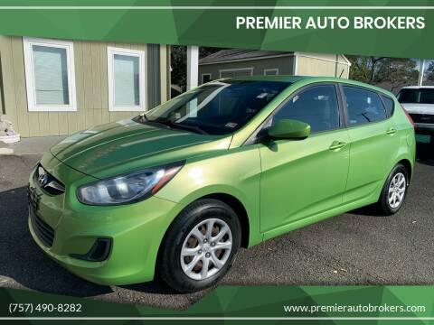 2012 Hyundai Accent for sale at Premier Auto Brokers in Virginia Beach VA