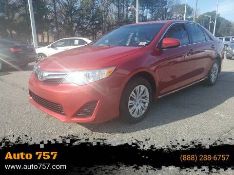 2014 Toyota Camry for sale at Auto 757 in Norfolk VA