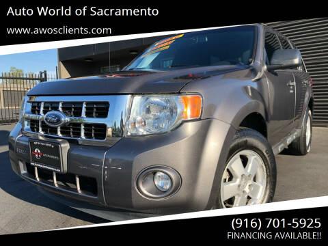 2012 Ford Escape for sale at Auto World of Sacramento Stockton Blvd in Sacramento CA
