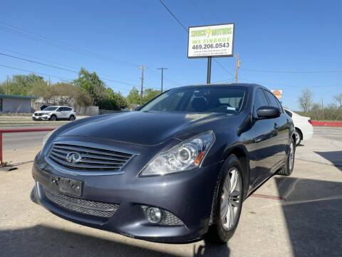 2012 Infiniti G37 Sedan for sale at Shock Motors in Garland TX