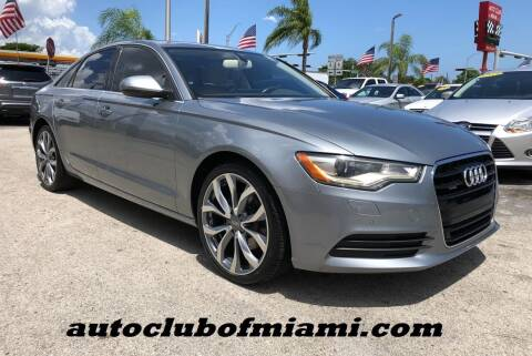 2013 Audi A6 for sale at AUTO CLUB OF MIAMI, INC in Miami FL