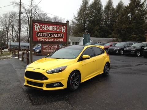 2017 Ford Focus for sale at Rosenberger Auto Sales LLC in Markleysburg PA