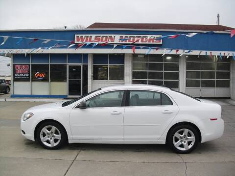 2012 Chevrolet Malibu for sale at Wilson Motors in Junction City KS