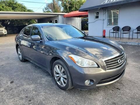 2013 Infiniti M37 for sale at America Auto Wholesale Inc in Miami FL