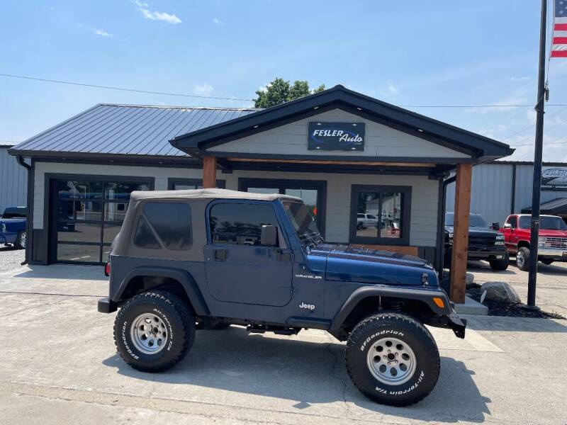 2001 Jeep Wrangler for sale at Fesler Auto in Pendleton IN