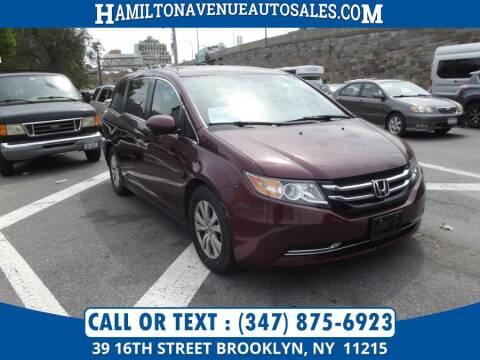 2015 Honda Odyssey for sale at Hamilton Avenue Auto Sales in Brooklyn NY