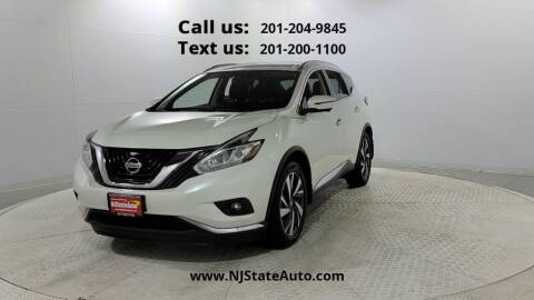 2017 Nissan Murano for sale at NJ State Auto Used Cars in Jersey City NJ