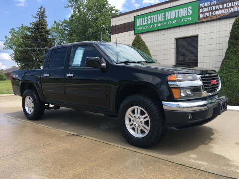 2010 GMC Canyon for sale at MILESTONE MOTORS in Chesterfield MI