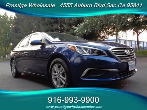 2017 Hyundai Sonata for sale at Prestige Wholesale in Sacramento CA